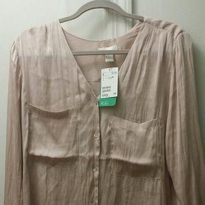 H&M Blush Button Up Shirt
